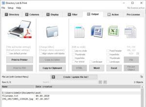 Как распечатать или сохранить список каталогов в файл в Windows