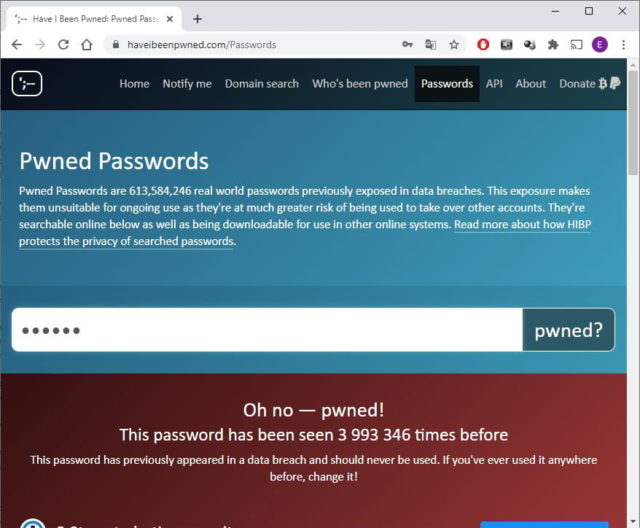 Как проверить, был ли украден Ваш пароль от какого-либо сайта